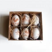 Ouă vopsite, set de 6 bucăți
