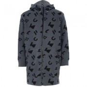 River Island Kids Grey RI Studio printed zip up hoodie