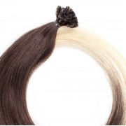 Rapunzel® Extensions Naturali Nail Hair Premium Liscio O2.6/8.0 Dark Ash Blond Ombre 50 cm