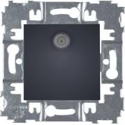 HBF zásuvka SAT SOPIA černý matný 159398