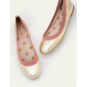 Boden Gold, Schlangenoptik/Altrosa Hettie Flexible Ballerinas Damen Boden, 41½, Gold