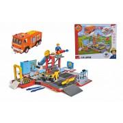 Set de joaca Pompierul Sam 2 in 1 statie de pompieri si masina Jupiter