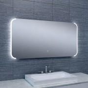 Douche Concurrent Badkamerspiegel Bracket 120x60cm Geintegreerde LED Verlichting Verwarming Anti Condens Touch Lichtschakelaar Dimbaar