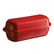 Керамична форма за печене на хляб голяма EMILE HENRY LARGE BREAD LOAF BAKER - цвят червен