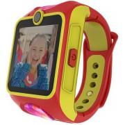 "Smartwatch MyKi Junior, Procesor Dual-Core 1.2GHz, Display TFT LCD 1.4"", Wi-Fi, Bluetooth, 3G, Camera, dedicat pentru copii (Rosu/Galben)"