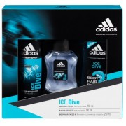 ADIDAS ICE DIVE EDT 100 ML + BODY HAIR FACE 3IN1 250 ML + DEO SPRAY 150 ML