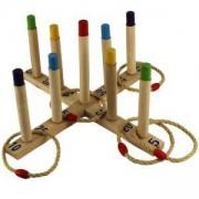 Дървена игра MASTER с въжени пръстени, MAS-B139