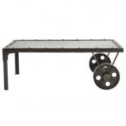 Mesa de salón estilo industrial de metal CHARIOT - Miliboo