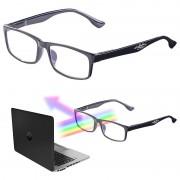 infactory Augenschonende Bildschirm-Brille mit Blaulicht-Filter, +1,0 Dioptrien