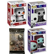 The Nightmare Before Christmas Figure Collection Funko Series Pop! / Skellington Pumpkin King / Zero Ghost Dog / Sally / Disney Trading Cards Pack Collectible Vinyl Characters