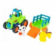 Set de joaca Malplay Tractor cu remorca si animalute pentru micul fermier