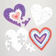 Baker Ross Inkleurbare hartvorm legpuzzels (10 stuks)