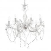 Maisons du Monde Lámpara de araña blanca de metal 6 brazos Diám. 57 cm MONTGOMERY