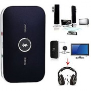 Wireless/Bluetooth Audio Receiver Transmitter 2-in-1 adapter for Streaming music or Wirelessly Watch TV.Supports