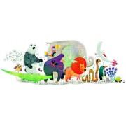 Puzzle gigant - Parada animalelor, 36 piese