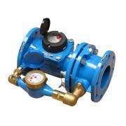 Contor BMeters de apă rece, tip WCM, Woltman combinat DN 80/20 cu cadran uscat, cu 7 role omologate