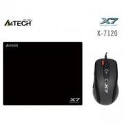 Комплект Мишка A4tech X710BK OSCAR + пад X7-200MP, A4-MOUSE-X-7120