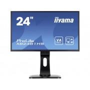 LED-monitor 59.9 cm (23.6 inch) Iiyama XB2481HS-B1 Energielabel B 1920 x 1080 pix Full HD 6 ms VGA, DVI, HDMI VA LED