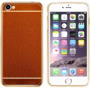 Colorfone PREMIUM CoolSkin Leather / Leren Look / Leder / Siliconen / Gel / TPU / Softcase / Hoesje / Cover / Case voor de Apple iPhone 7 in Oranje