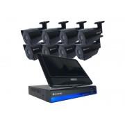 Kamerový systém SECURIA PRO AHD8CHV1-B LCD
