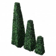 vidaXL Set of 3 Artificial Boxwood Pyramid Topiary