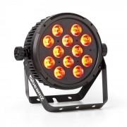 Beamz BT310 FlatPAR 12 LED 4 en 1 8W RGBAW-UV DMX Mando a distancia por IR (Sky-151.313)