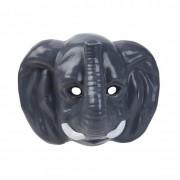 Merkloos Olifanten masker gemaakt van plastic 3D 22cm