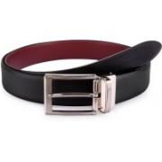 Tommy Hilfiger Men Formal Black, Maroon Synthetic Reversible Belt