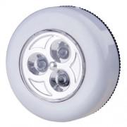 Led elemlámpa, szekrény világító, nyomásra be vagy kikapcsol! 3× AAA 1,5V tartozék!