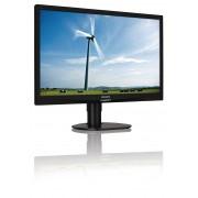 "Philips S-line 241S4LCB - Monitor LED - 24"" - 1920 x 1080 Full HD (1080p) - TN - 250 cd/m² - 1000:1 - 5 ms - DVI-D, VGA - preto"