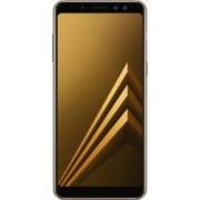 Telefon mobil Samsung Galaxy A8 2018 A530 32GB Dual SIM 4G Gold Bonus Suport Auto Tellur Universal