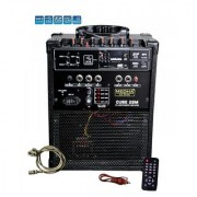 MEDHA Portable Rechargeable PA Amplifier Cube-28 with Speaker USB Player