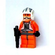Lego Star Wars Mini Figure - Rebel Pilot Zev Senesca with Blaster Approximat
