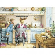 Bits and Pieces - 500 Piece Jigsaw Puzzle -Homemade Soup - Country Kitchen - by Artist Catherine Simpson - 500 pc Jigsaw