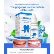 LANBENA 3D White Teeth Whitening Essence Dental Whitener Oral Hygiene White Tooth Cleaning Bleaching Serum Remove Plaque