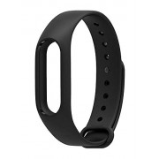VITREND(R-TM) M2 Intelligence Premium Quality Replacement Strap Accessories Bands Wrist Strap for Xiaomi MI and M2 Fitness Band with Adjustable Buckle {Black}-Suitable for regular M2 comfortable fitness band