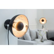 Nástenná lampa STUDY - čierna, strieborná