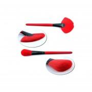 Eye Lip Powder Face Cosmetic Makeup Brush Set (24 Piezas, Rojo Vino)