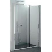 CSA Box Doccia Cabine de douche avec porte coulissante Giada FS 100 - profil: Argent poli - cri