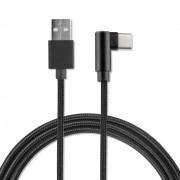 4smarts Basic USB-C Data Cable AngledCord - USB към USB-C кабел за устройства с USB-C порт (100 см.) (черен)