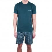 Calvin Pánské pyžamo Calvin Klein tmavě zelené (NM1533E-DGW) L