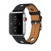 Умные часы Apple Watch Hermes Series 3 42mm with Single Tour Rallye Noir Gala Leather MQLU2
