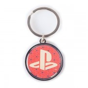Sony - Playstation Biker Logo Metal Unisex Keychain (red/black)
