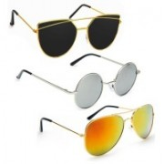 Vitoria Cat-eye, Aviator, Round Sunglasses(Multicolor)