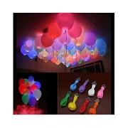 Aurora Led Balloons with Balloon Glue Hand air Pump & Decorative Swirls