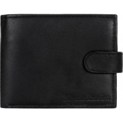 Kinetic Leathers Men Black Genuine Leather Wallet(5 Card Slots)