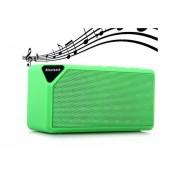 Shuua X3 Mini Altavoz Bluetooth TF USB FM Radio Inalámbrica Portátil Caja De Sonido De Música Altavoces Subwoofer Con Micrófono (Verde)