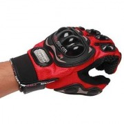 Pro Bike Racing Motorcycle Half Finger Riding Gloves red xl