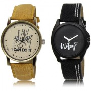 The Shopoholic Brown Black Combo Latest Fashionable Brown And Black Dial Analog Watch For Boys And Girls Mens Belts Watches