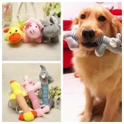 Funny Dog Puppy Sound Chew Toys Plush Cat Squeaky Play Pet Supplies